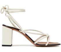 Sandalen aus Leder mit Knotendetail