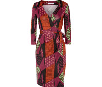 New Julian Two Printed Silk Wrap Dress Plaume