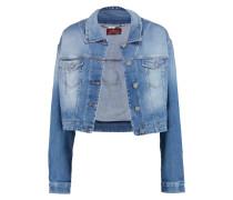 Cropped Stretch-denim Jacket Mittelblauer Denim