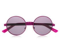 Roll Deep Round-frame Metal Sunglasses Magenta