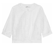 Laura Broderie Anglaise Cotton Top Weiß