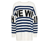 Mystica Sequin-embellished Striped Intarsia-knit Sweater