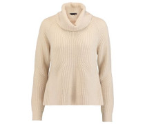 Nettie draped cable-knit wool and cashmere-blend sweater