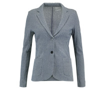 Heringbone Cotton, Cashmere And Silk-blend Blazer Navy