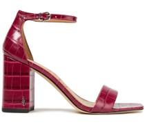 Daniella Sandalen aus Leder mit Krokodileffekt