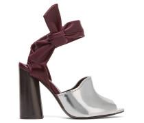 Kyoto Metallic Leather Sandals Silber