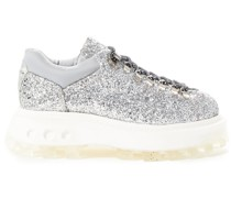 Low Tracker Ankle Boots aus Shell mit Glitter-finish