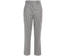 Michael Gingham Wool Straight-leg Pants