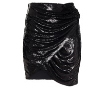 Catina Wrap-effect Sequined Crepe Mini Skirt