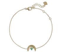 Heritage Crescent 18-karat  Emerald Bracelet