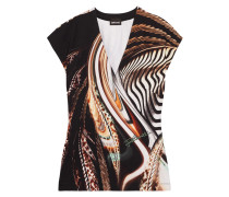 Printed Stretch-jersey T-shirt Mehrfarbig