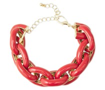 Goldfarbenes Armband mit Emaille