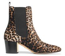 Yvette Leopard-print Calf Hair Ankle Boots Leoparden-Print