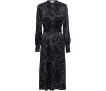Alowette Floral-print Washed-silk Midi Dress