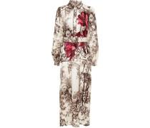 Sterope Printed Cupro-blend Satin-jacquard Midi Dress