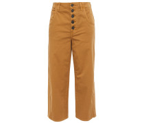 Cassedy Cropped Cotton-blend Twill Straight-leg Pants