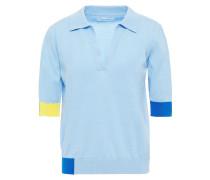 Color-block Cotton Polo Shirt