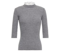 Mouthy Gerippter Pullover aus Melierter Wolle