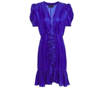 Ruffled Satin-jacquard Dress