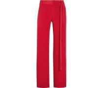 Lillian silk-crepe wide-leg pants