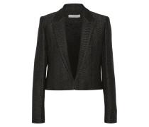 Toni Cropped Metallic Wool-blend Blazer Schwarz