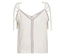 Picot-trimmed Bow-detailed Cady Camisole