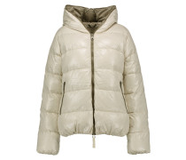 Thia Quilted Shell Down Hooded Coat Wollweiß