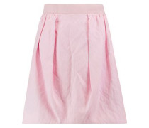 Cotton-blend canvas mini skirt
