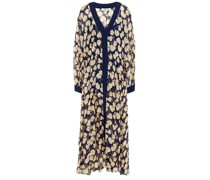 Terry Metallic Fil Coupé Printed Silk-blend Crepon Maxi Dress