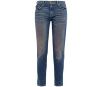 Tief Sitzende Jeans mit Schmalem Bein in ausgewaschener Optik