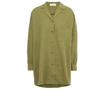 Oversized Cotton And Wool-blend Twill Shirt