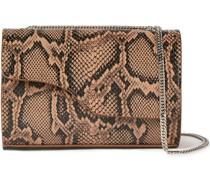 Snake-effect Leather Shoulder Bag