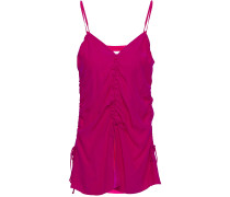 Ruched Silk-crepe Camisole