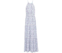 Isadora Lace-trimmed Printed Broadcloth Maxi Dress