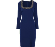 Embellished Stretch-crepe Dress