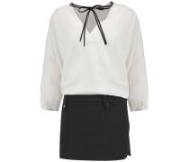 Ramiro Crepe De Chine And Cotton-blend Mini Dress Weiß