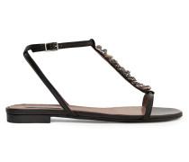 Shell-embellished Leather Sandals