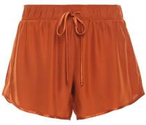 Satin-trimmed Silk Shorts