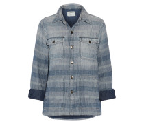 The Patch Pocket Striped Cotton-chambray Shirt Heller Denim