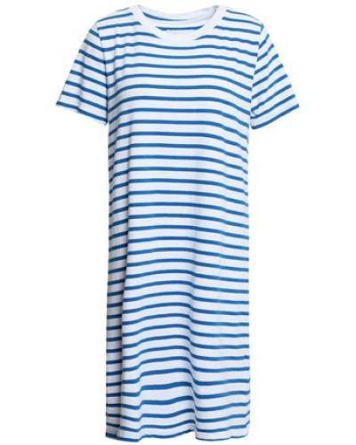 Striped Cotton-jersey Mini Dress White Size 0