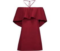 Jada off-the-shoulder cotton-poplin mini dress