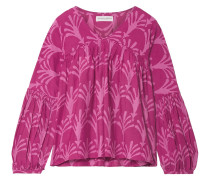 Printed Cotton And Silk-blend Blouse