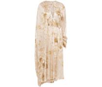 Vasto Cape-effect Pleated Silk-satin Crepe Midi Dress