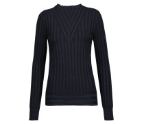 Page Ribbed-knit Sweater Mitternachtsblau