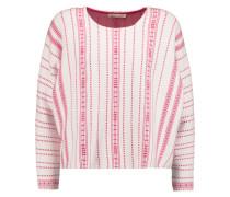Mauve Stretch Intarsia-knit Sweater Pink