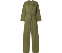 Scout Belted Cotton-blend Jumpsuit