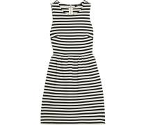 Striped Stretch-jersey Mini Dress Wollweiß