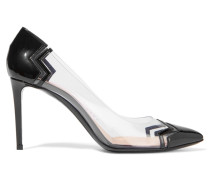 Mirage Patent-leather And Perspex Pumps Schwarz