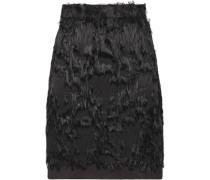 Fringed fil coupé mini skirt