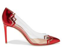 Metallic Patent-leather And Perspex Pumps Rot